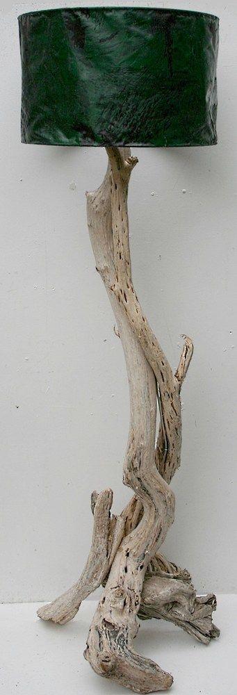 Driftwood Floor Standing Lamp, Drift Wood Floor Lamp, Driftwood standard lamp