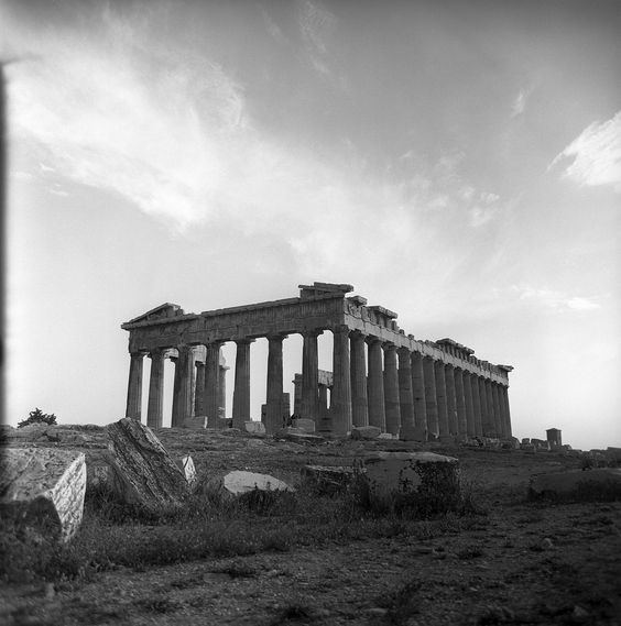Athens, Greece May 1959 the Parthenon set includes photographs of the ancient ruins of the acropolis, also views of the modern city of athens, greece. from nick and maggie's spring 1959 trip to europe. part of an archival project, featuring the photographs of Nick Dewolf