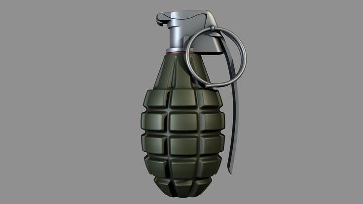 Frag Grenade, Henning Lande on ArtStation at https://www.artstation.com/artwork/frag-grenade-947a287d-70b2-4f05-b356-e9034b315196