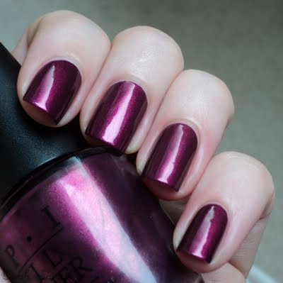 Diva of Geneva...I think this is my new favorite OPI nail color!