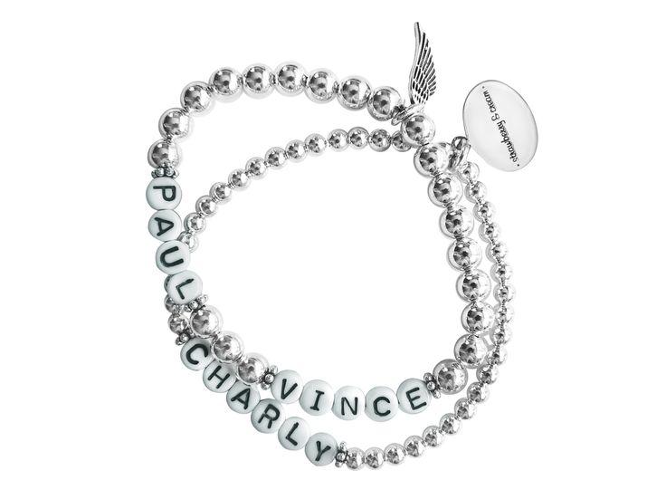 strawberry & cream's sterling silver name bracelets  silberne Namensarmbänder von strawberry & cream