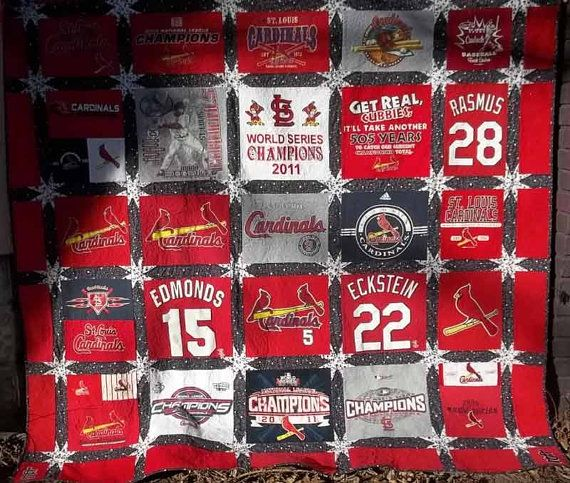 St. Louis Cardinals t-shirt quilt....I serioulsy think I have enough shirts for at least 2 quilts!!! Now to find somebody to make it for me....