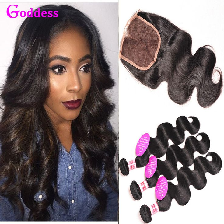 Brazilian Virgin Hair Body Wave With Closure 7A Unprocessed Brazilian Virgin Hair 3 Bundles With Closure Wet And Wavy Body Wave