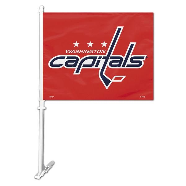 Show your team spirit everyday by proudly flying the Washington Capitals car flag.  This mini flag consists of vivid team color, heavy duty polyester fabric which has been screen printed with the Capitals team logo on either side.  This flag easily fits on your car window and flaps in the breeze as you cruise on down the highway showing everyone you are a proud fan with team spirit. The fun doesn't stop there.  This NHL flag can also be used in your home decor.  Just use the wall bracket ...