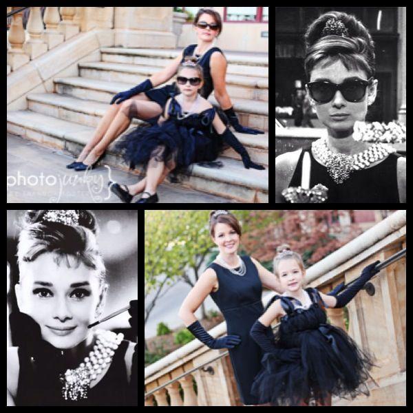 Audrey Hepburn Mother Daughter Halloween Costume Idea! Marvelous!