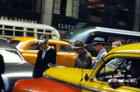vintage everyday: Color Photos of New York from the 1960′s. by Enst Haas