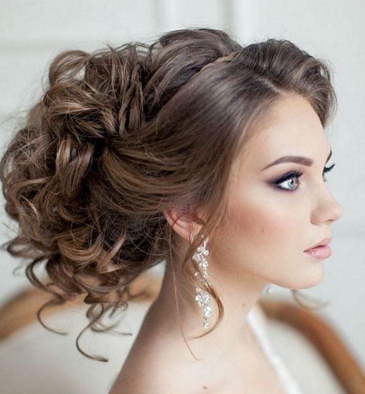 Nişan ve Düğün için Arkada Topuz Saç Modelleri
