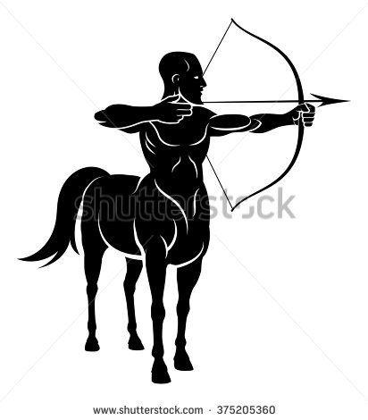 Archer Centaur Half Horse Half Man Stock Illustration 345246509 ...