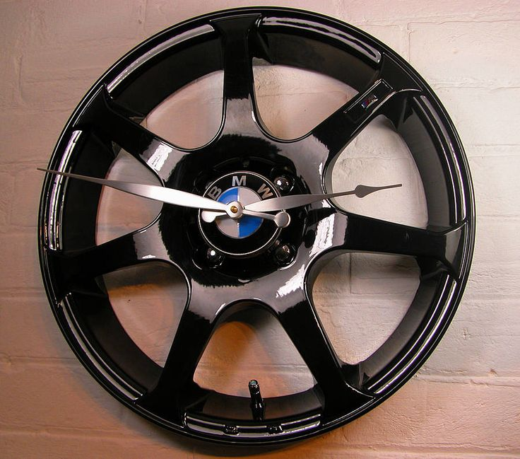personalised real alloy wheel bmw clock by vyconic   notonthehighstreet.com