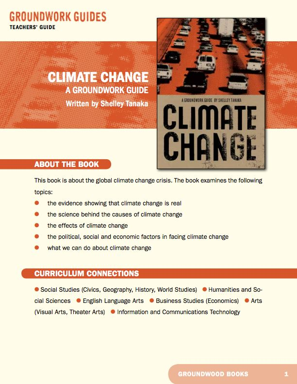 Teachers' Guide for A Groundwork Guide to Climate Change. Scientists have been warning the world about global warming for almost three decades. But the rest of us are only now starting to get the message. The planet is warming at an unusually rapid rate, and this warming is largely being caused by human activity. Shrinking glaciers, thawing permafrost, erratic weather and threatened freshwater supplies are already affecting the lives of people around the globe, and the worst is yet to come.