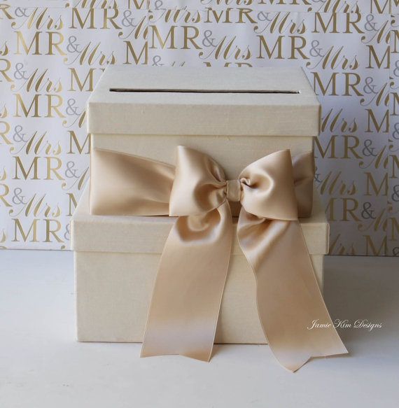 Wedding Card Box Money Box Gift Card Holder  by jamiekimdesigns, $85.00-this is cute for cars.. i think i might want to make my own :)