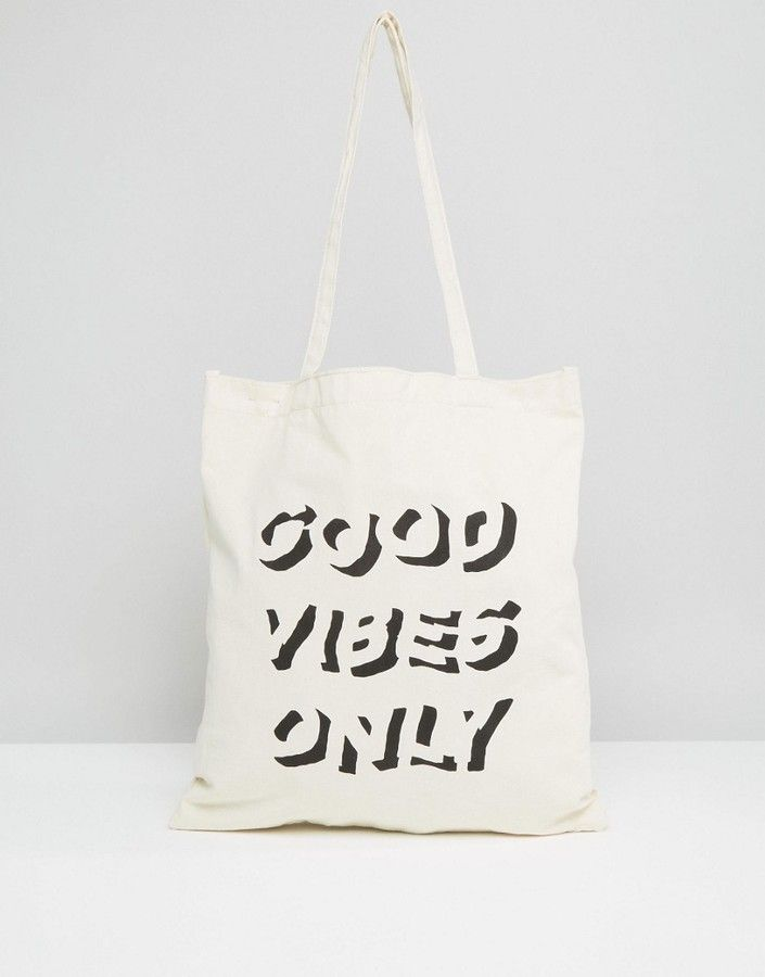 Asos Tote Bag With Slogan #clicktoshop #thesaleshopper