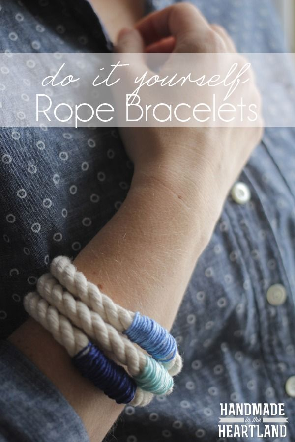 How to make Rope Bracelets. Great Easy Craft. #20minutecraft #DIY www.handmadeintheheartland.com