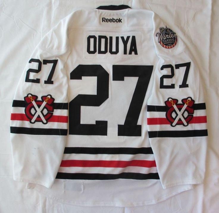Johnny Oduya Chicago Blackhawks 2015 NHL Winter Classic Game-Worn Jersey #ChicagoBlackhawks