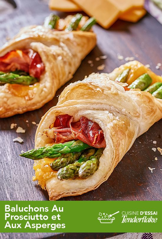 Encore plus facile à faire qu'à savourer. Essayez ce baluchon au prosciutto et aux asperges. Un vrai plaisir pour les papilles!  #tenderflake #asperges #prosciutto #recette