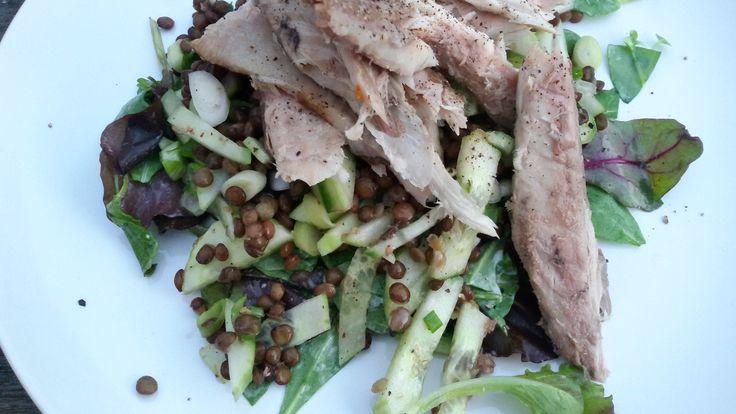 Na een zonnig weekend met lekker eten zit ik weer vol met ideeën en recepten om met jullie te delen. Vandaag het eerste recept, een lekkere frisse linzen salade met gerookte makreel. Snel en simpel…