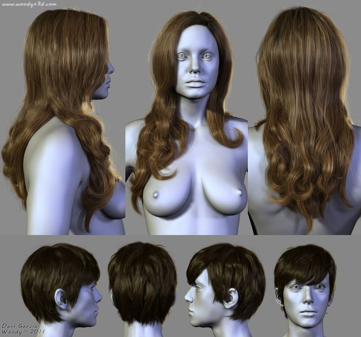 7 Hairstyles, Dani Garcia on ArtStation at https://www.artstation.com/artwork/7-hairstyles