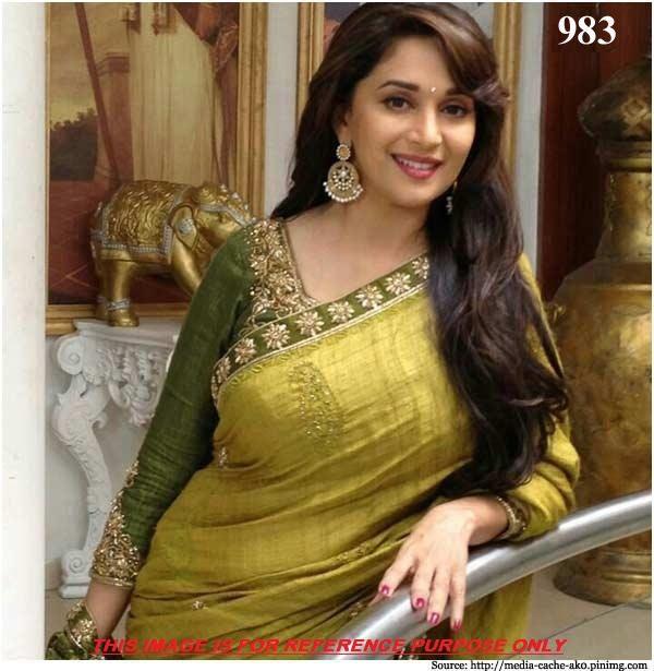 Green embroidery bhagalpuri saree with blouse