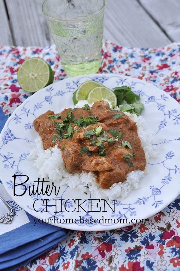 butter chicken  @yourhomebasedmom  via@30daysblog  #chicken, #recipes,#indianfood    @