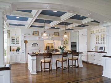 love the ceiling: Kitchens, White Kitchen, Kitchen Design, Ceilings, Kitchen Ideas