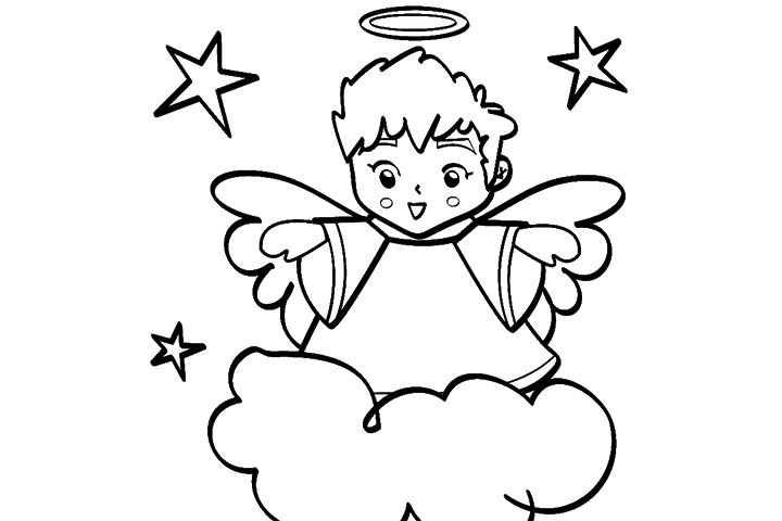 Cloud Coloring Pages Free Printables Momjunction Angel Coloring Pages Coloring Pages Christmas Coloring Pages