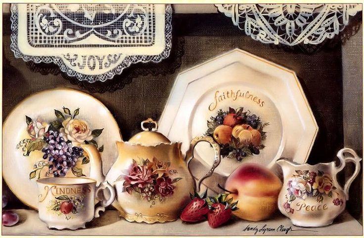 Уют,чай,розы. Sandy Lynam Clough.. Комментарии : LiveInternet - Российский Сервис Онлайн-Дневников