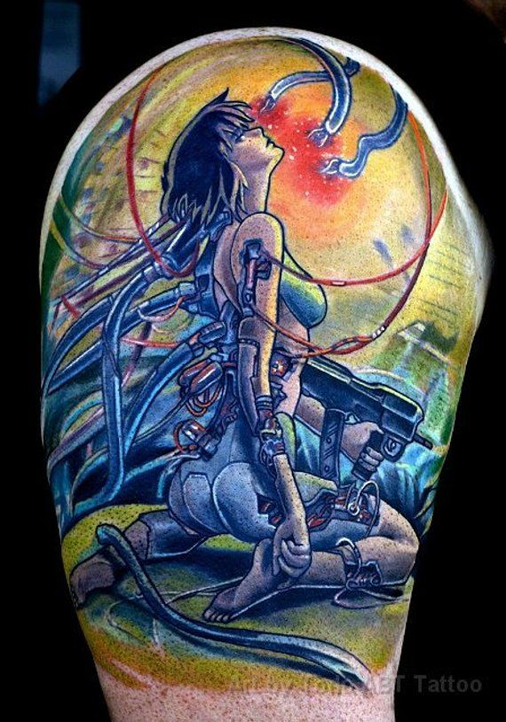 Temporary Tattoos Calgary Etsy Anime Tattoos Cartoon Tattoos Ghost In The Shell
