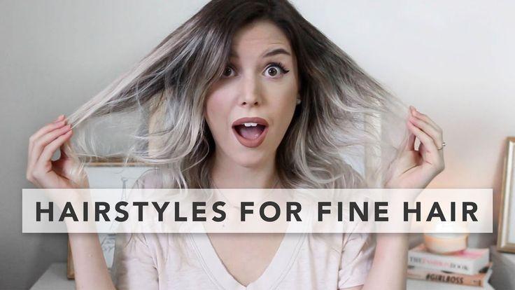 3 coiffures rapides et faciles pour cheveux fins - # coiffures #quick - #new