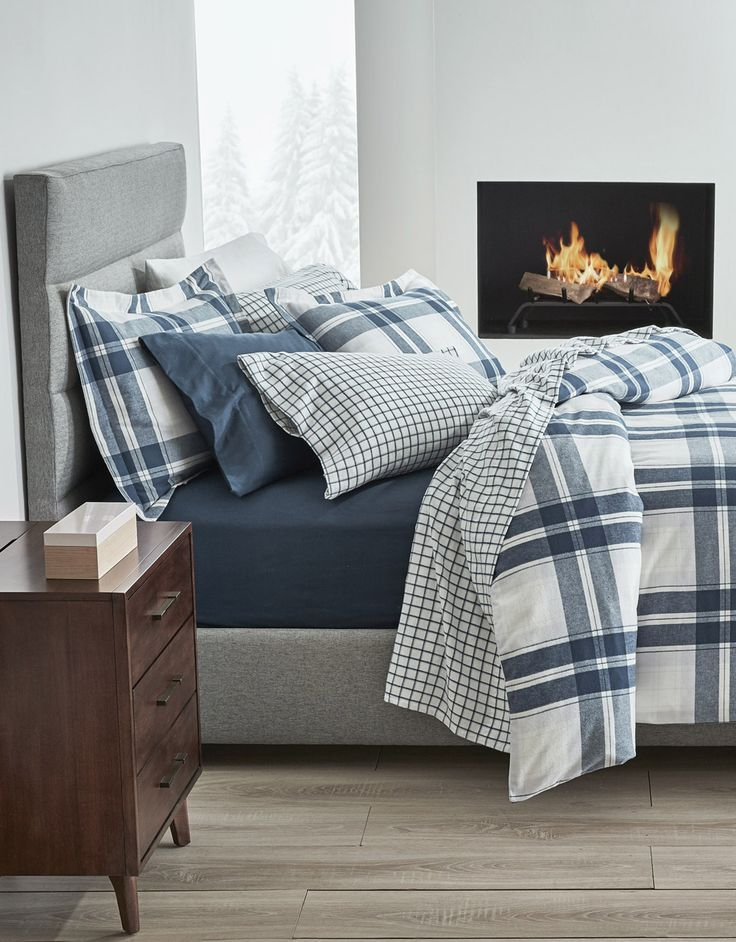 Gluckstein Home Emmett Flannel Duvet Cover Set