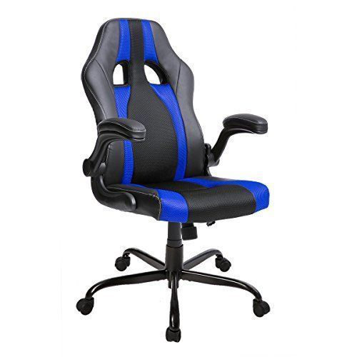 Merax Racing Style Office Chair Computer Desk Chair High Back PU Leather and Mesh Material Swivel Chair With a stylish race car seat design, this black and red office gaming chair offers a curved back for lasting comfort whether you're pulling a multi-hour gaming session or throughout a long work day The smooth leatherette covering and mesh padded cushioning with stitching detail and design is plush and cozy and fits with any style office or gaming room Adjustable height and
