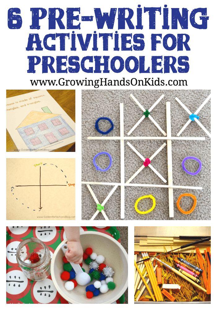 6 pre-writing activities for preschoolers to promote good handwriting skills for kindergarten.