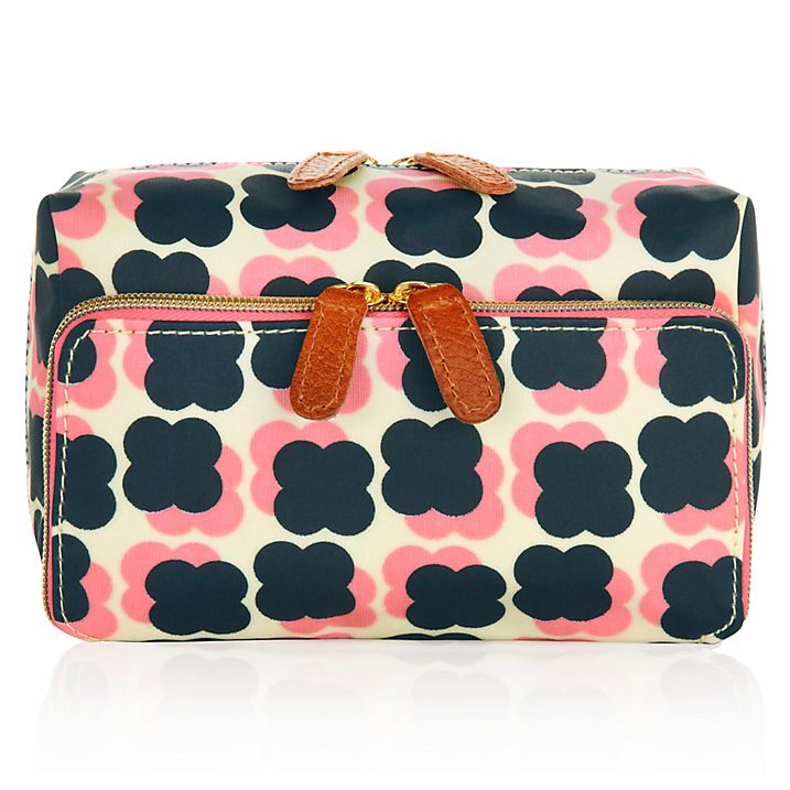 Buy Orla Kiely Wash Bag, Navy/Pink Online at johnlewis.com