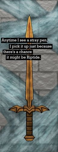 Of course you won't find Riptide, because Percy has it! It magically returns to his pocket! Pshh mortals ;)
