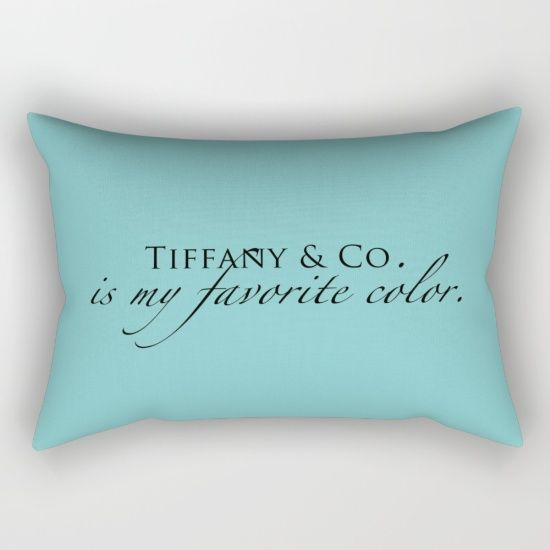 tiffany u0026 co is my favorite color rectangular pillow