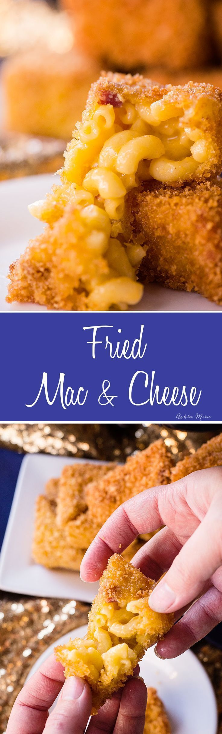 make your own fried macaroni and cheese with diced summer sausage for an amazing flavor! it's an easy appetizer that everyone will love at your next party! #ad @jvilllesausage