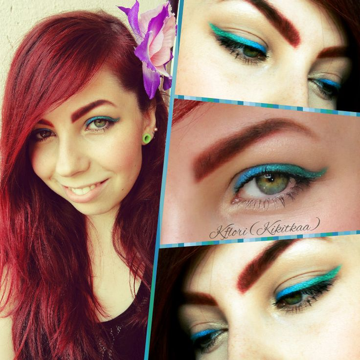 ombre make up in this color combination is perfect for summer :) try it! <3  #ombre #makeup #style #beauty #lagoon