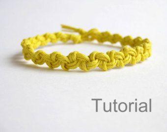 Knotted bracelet pattern macrame tutorial pdf by Knotonlyknots