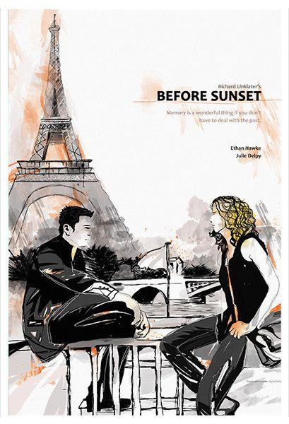Before Sunset Alternative Movie Poster by TerminalPresents