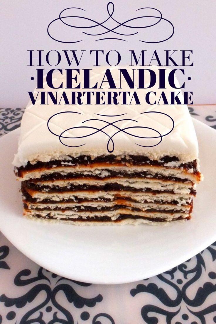 How to make Icelandic Vinarterta cake. A traditional Iceland Christmas dessert recipe.