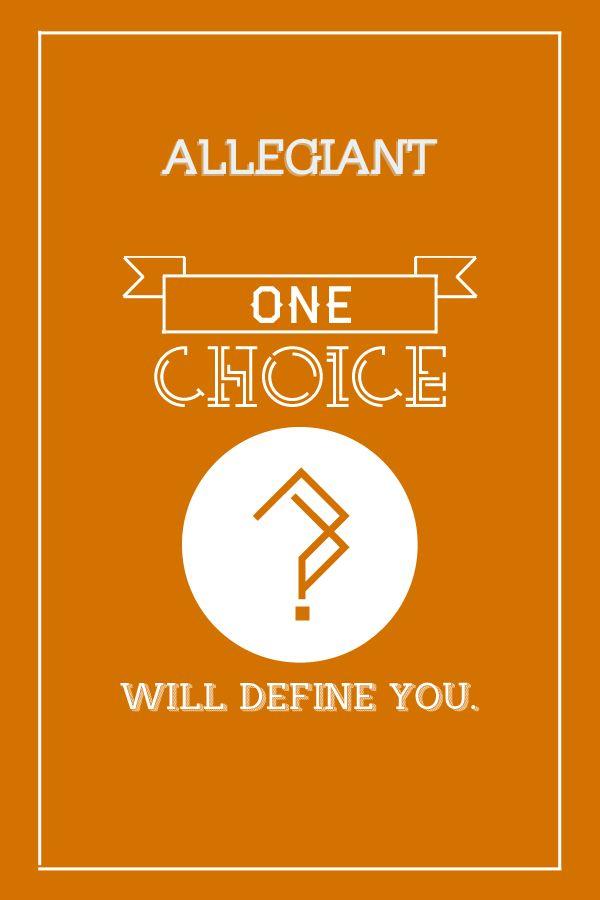 Divergent minimalist posters
