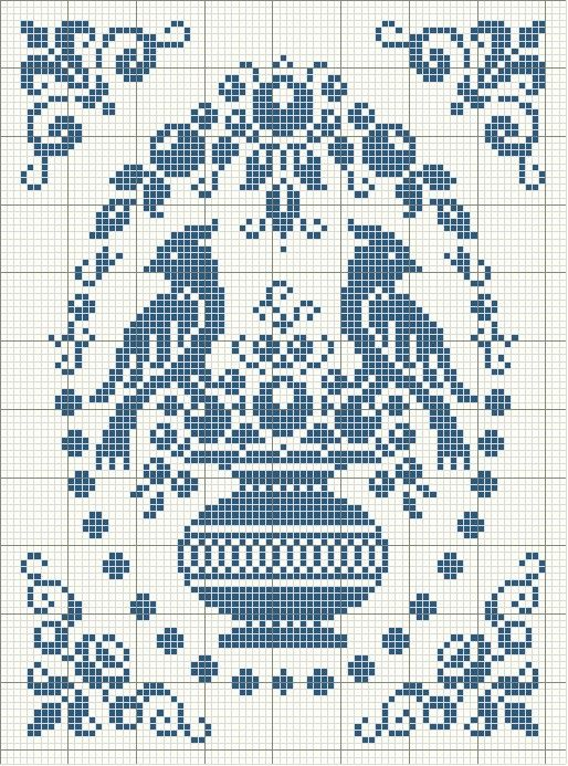 cross stitch pattern would look good in monochrome