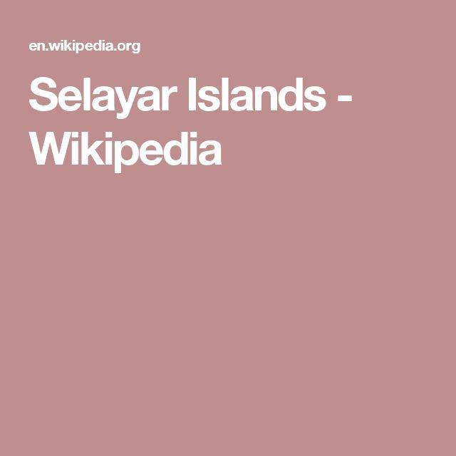 Selayar Islands - Wikipedia