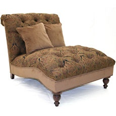 Update your Home Theater with comfort - Old Hickory Tannery Red u0026 Black Paisley Chenille Chaise  sc 1 st  Pinterest : old hickory tannery chaise - Sectionals, Sofas & Couches