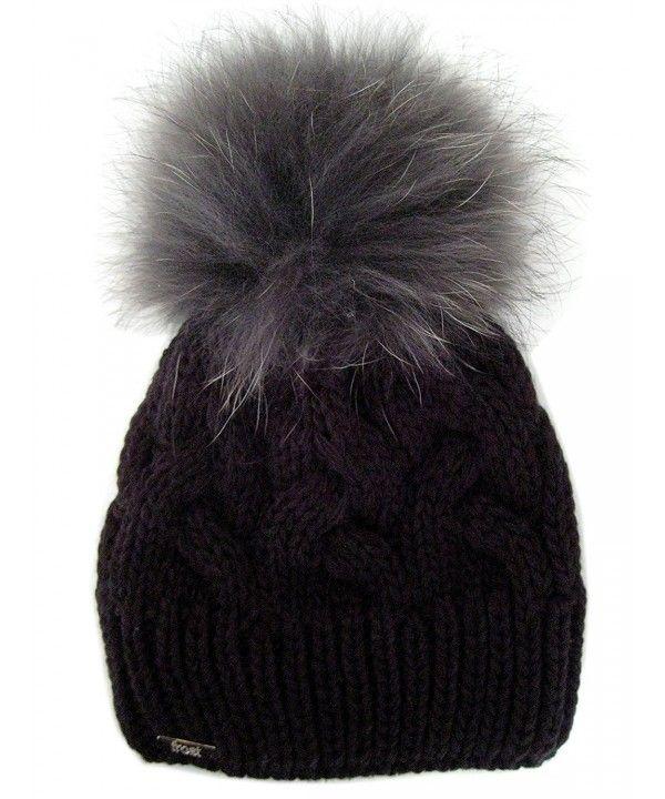 feb7767f Hats & Caps, Women's Hats & Caps, Skullies & Beanies, Warm and Soft Winter  Beanie With Detachable Genuine Fox Fur Pom M-179SRN Black C911ZTTBKM1 #women  ...