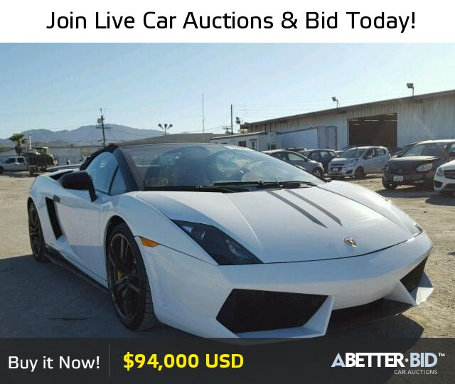pin by a better bid car auctions on salvage exotic and luxury cars for sale lamborghini. Black Bedroom Furniture Sets. Home Design Ideas