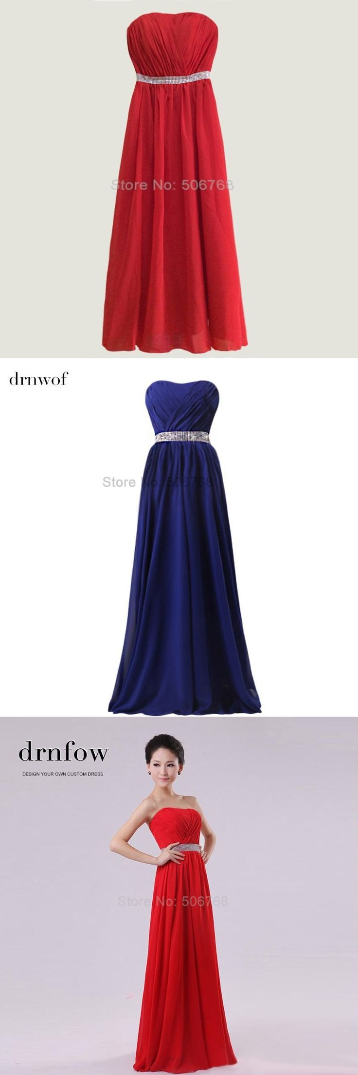 Best 25 homecoming dresses under 50 ideas on pinterest prom 2017 new bridesmaid dresses formal prom maxi strapless chiffon long wedding party red blue white dress ombrellifo Images