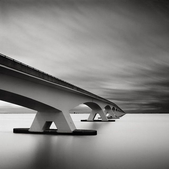 Zeeland Bridge in the Netherlands