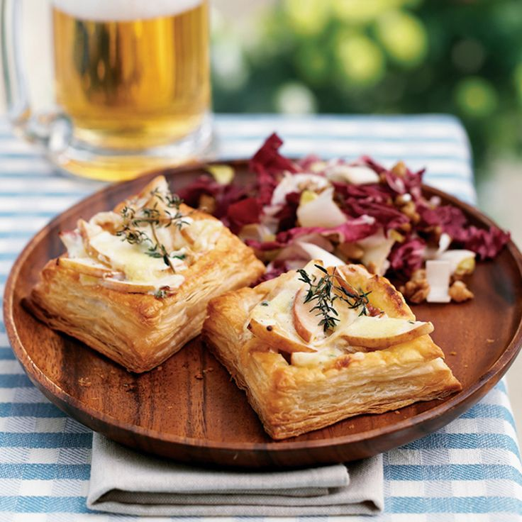 Ready-made puff pastry make this pear and blue cheese tart recipe really easy to prepare.