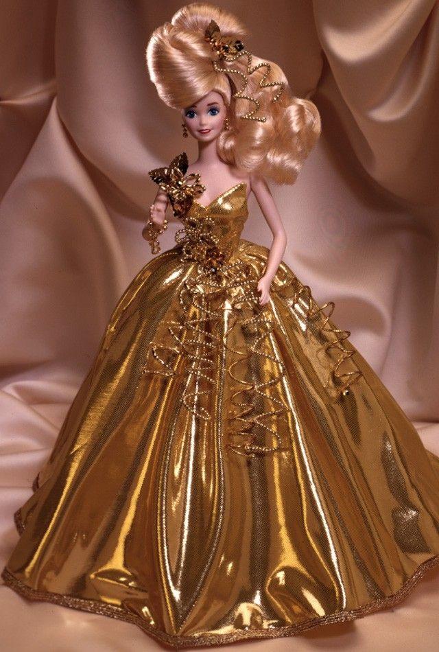Gold Sensation® Barbie® Doll. Porcelain Collection. 1993