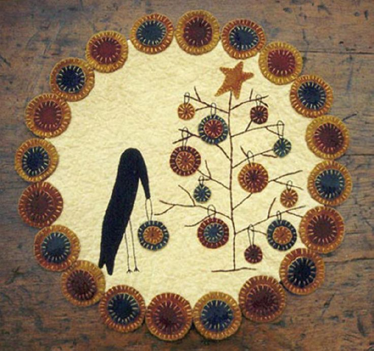 A Primitive Christmas | Wool_Penny Rugs | Pinterest ...